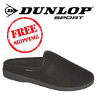 Dunlop 'Ted' Men's Black Ribbed Velour Slippers Gent's Mules