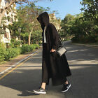 TREND PUNK VISUAL HOODIE 88349 ELASTIC LONG COAT JACKET