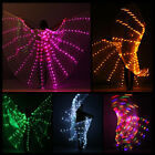 Battery Power LED Wings Dancing Stage Belly dance Performance ISIS Wings&Stick