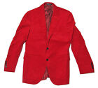$1,295 Polo Ralph Lauren Mens Red Corduroy Italy 2 Button Sportcoat Blazer New