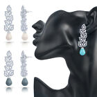 Simulated Cubic Diamond Pearl Elegant Dangle Fashion Earrings Deal 725 2E 001