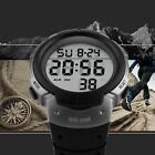 SKMEI Mens Large Number LED Digital Sports Waterproof Chrono Quartz Wrist Watch image
