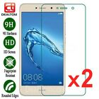 2Pcs Premium Tempered Glass Screen Protector Cover For Huawei Y3 Y5 Y6 Y7 2017