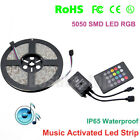 LED Music Color Change Flexible Strip String Light Dimmable Sound Activated Kit