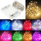 50/100 LED Battery/USB Micro Rice Wire Copper Fairy String Lights Xmas Party RGB