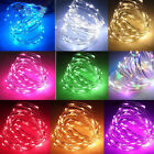 20/50/100 Micro LED String Battery Operated Rice Wire Fairy Lights Xmas Party AU