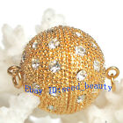 18mm A Grade Rhinestone Yellow Crystal Gold Plated Jewelry Clasp Findings