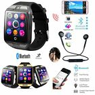 Q18 Smart Wrist Watch Bluetooth Waterproof Headset Bundle Kit For Samsung iPhone
