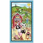 PATCHWORK FARMS FUNKY FARM ANIMALS 100% COTTON FABRIC