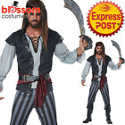 CA508 Mens Scallywag High Seas Captain Pirate Buccaneer Jack Sparrow Costume