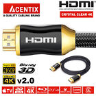 ACENTIX® HDMI 2.0 Cable Ultra UHD 4K 60Hz 18Gbps for SKY Q PS4 Pro XBox One S