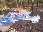 Original vintage 40s KANSAS JAYHAWK Flying service license plate topper gm parts $107.5 USD
