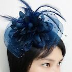 Feather Flower Tulle Net Fascinators Wedding Race Bridal Hair Clip Derby Party