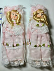 """SET OF 2 BEAUTIFUL PORCELAIN DOLLS """"FRIENDS TILL THE END OF TIME""""CARRIE CURLY"""""""