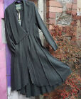 BOHEMIA SWEDEN LONG FOREST GREEN BOILED WOOL FITTED PANELLED ASYMMETRIC HEM COAT