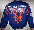 NEW YORK METS 2 TIME WORLD SERIES CHAMPIONS Jacket  BLUE    XL 2X on Ebay