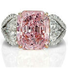 Graceful 925 Silver Pink Sapphire Ring Women Men Charms Jewelry Wedding Fashion