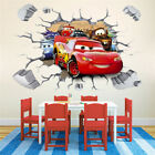 3D Cars McQueen Mater Removable Wall Stickers Decal Kids Boys Room Decor Mural