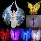 LED isis wings more lights belly dance cosplay costume prop include sticks bag