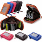 Men Women Leather Mini Slim Wallet ID Credit Card Holder Case Organizer Purse US