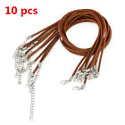 10pcs Black Brown Suede Leather String Necklace Cord Jewelry Making DIY Gift