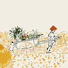 """16""""x20"""" Wheat field cart DIY Paint By Number Kits On Canvas Frame Painted 2393"""