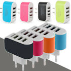 3 USB Port US / EU Plug LED Charger Charging Adapter For iPhone 6S 6 5 5S 4S 5C
