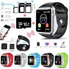 Bluetooth Smart Watch Phone Camera SIM Card Slot Bundle For IOS iPhone Android