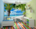 3D Nice Beach 2 Blockout Photo Curtain Printing Curtains Drapes Fabric Window AU