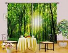 3D Forest Sun 2 Blockout Photo Curtain Printing Curtains Drapes Fabric Window AU