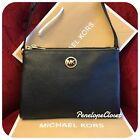 NWT MICHAEL KORS SIGNATURE PVC OR LEATHER FULTON EW CROSSBODY BAG IN VARIOUS