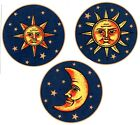 Celestial Sun Moon Stars Select-A-Size Waterslide Ceramic Decals Bx image