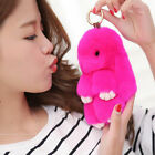 Keyring Soft Real Fluffy Rabbit Fur Handbag Pendant Charm Pompom Keychain Gifts