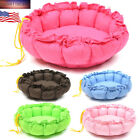 Round Pet Dog Cat Bed Puppy Cushion House Soft Warm Mat Blanket 15'' Bed