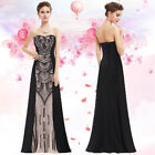 Ever-pretty Black Long Formal Evening Party Dresses Cocktail Prom Gowns 08853