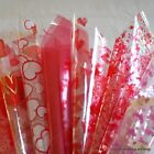 Valentine's Day Cellophane Gift Wrap 2 / 5 / 10  / 20 metres Choice of Designs