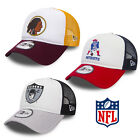 New Era NFL Throwback A-Frame Trucker Cap Patriots Raiders Redskins Packers SALE