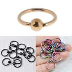 5 Pcs Surgical Steel Hoop Ring Piercing Ball Closure For Lip Ear Nose Eyebrow