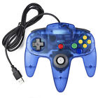 NEW Wired Nintendo 64 N64 USB Controller For PC & Mac Computer Game Black/Gray