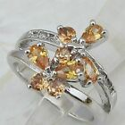 Size 5.5 7 8 9 Gallant Multi Orange Citrine Jewelry Gold Filled Woman Ring K723