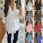 affordable plus size clothes - Women's Chiffon V-Neck Pocket Tops Shirt Plus Size Summer Casual Clothes Goodish