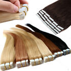 20/40pcs Tape in 100% Remy Human Hair Extensions Skin Weft MU Virgin US Salon
