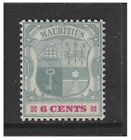 Mauritius - 1899, 6c Green & Rose-Red stamp - Mint - SG 131