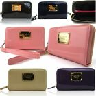 LYDC Small Organiser Wristlet Purse Women Patent Leather Ladies Coin Card Wallet