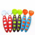 Baby Fork Spoon Set TODDLER UTENSILS Perfect Size Child Kids Infant Self feeders