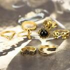 New Women Fashion Vintage Style Elephant Shape Charm Ring Set Jewelry N4U8