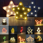 Star Moon LED Night Light Wall Lamp Baby Kids Bedroom Home Decor YW CA