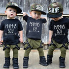 Lovely Toddler Kid Baby Boys Cotton T-shirt Tops Long Pants Outfits Set Clothes