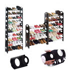 Black Shoe Rack 4/6/8/10 Tiers Shelf Storage Stand Holder For 12/18/30/50 Pairs