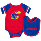 Kansas Jayhawks Colosseum Roll-Out Infant One Piece Outfit and Bib Set